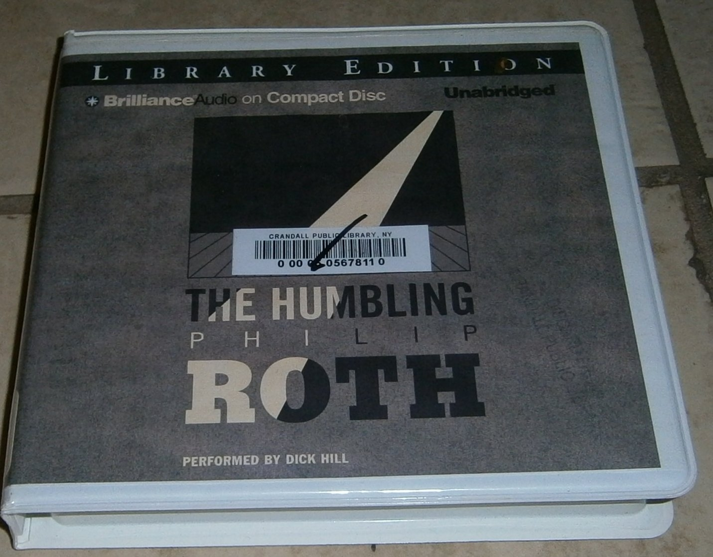 The Humbling audiobook cds Philip Roth