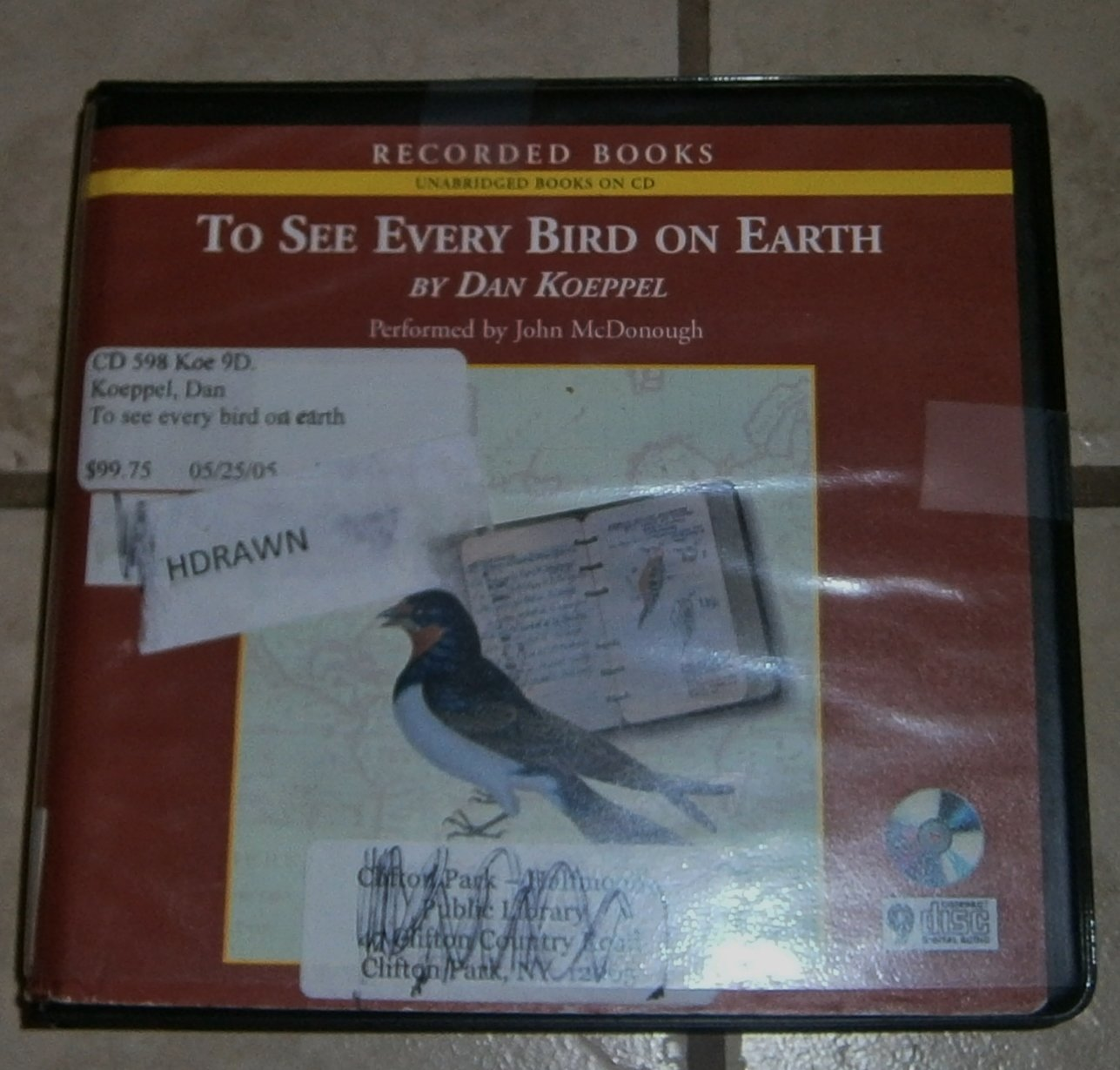 To See Every Bird on Earth Dan Koeppel audio book cds