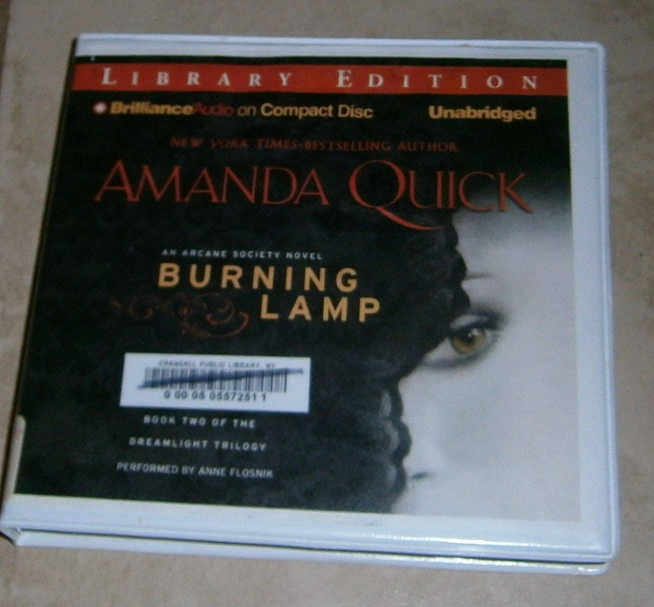 Burning Lamp Amanda Quick audio book cds