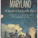 Murder in Maryland Leslie Ford Popular Library Paperback
