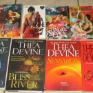 Lot 8 THEA DEVINE Erotic Romance Books Seduction Bliss Desired Angel Sensation