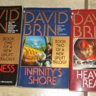 Lot 3 DAVID BRIN Book UPLIFT Trilogy Brightness Reef Infinity's Shore Heaven's
