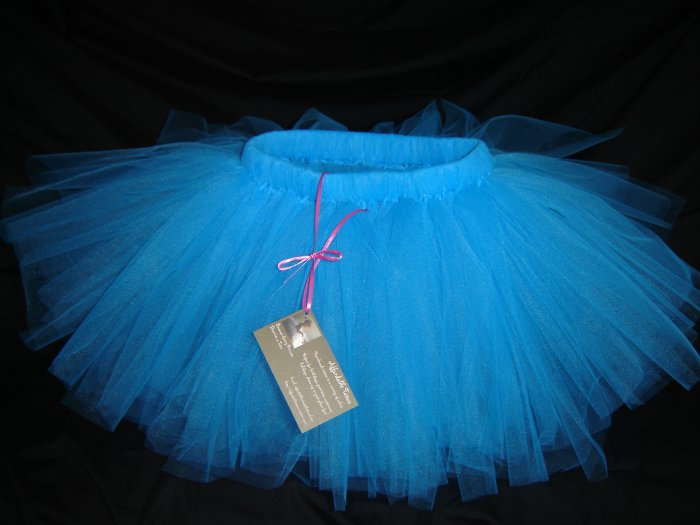 Turquoise Tutu, Mid-Thigh, 2T-5-Free Shipping