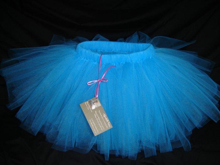 Turquoise Knee Length Tutu, 2T-5  Free Shipping!