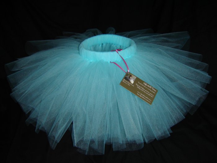 Aqua Mid-Thigh Length Tutu, 0-24M Free Shipping!