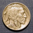 (3) 1936 BUFFALO NICKEL-VERY NICE CIRCULATED CONDITION!