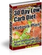 """30 Day Low Carb Diet """"Ketosis Plan"""""""