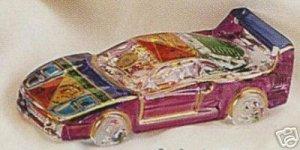 "NASCAR STYLE COLLECTIBLE MURANO ART GLASS CAR 4"" NIB"