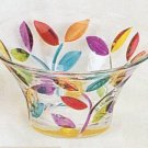 Small Colorful Leaves Murano Glass Decorative Bowl NEW IN BOX