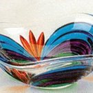 Murano Italian Art Glass Handpainted Multicolor Small Round Bowl