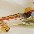 MURANO ITALIAN ART GLASS FORMULA 1 RACING CAR 5 1/2 INCHES