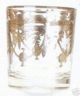 Murano Glass Scotch Glasses Set of 6 Made in Italy Silver Clear