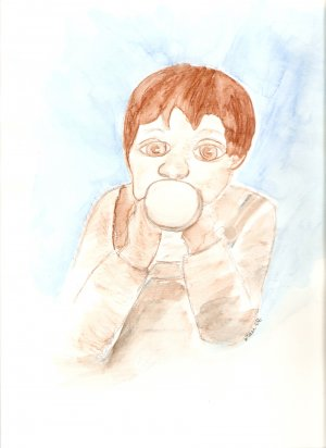 Me and My Sippy Cup ACEO Print, signed & numbered