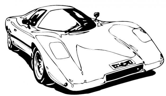 1950 cars coloring pages