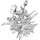 FLOWERS Printable Coloring eBook on CD - 363 Pages Coloring Sheets Book