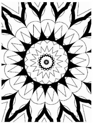 KALEIDOSCOPES Printable Coloring eBook on CD | 50 Pages Coloring Sheets Book