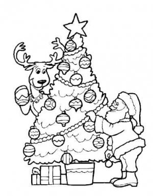 CHRISTMAS Printable Coloring eBook on CD - 55 Pages Coloring Sheets Book