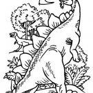 DINOSAUR & PREHISTORIC Printable Coloring eBook on CD - 31 Pages Coloring Sheets
