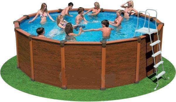Sequoia Spirit Wood-Grain Frame Pool