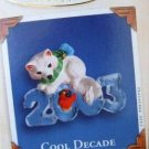 Hallmark Keepsake Christmas Ornament Cool Decade 2003 Arctic Fox & Bird #4 VGB ~*~v