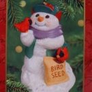 Hallmark Keepsake Christmas Ornament Snow Buddies 2000 Snowman Red Birds #3 VGB ~*~