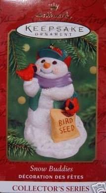 Hallmark Keepsake Christmas Ornament Snow Buddies 2000 Snowman Red Birds #3 VGB ~*~v