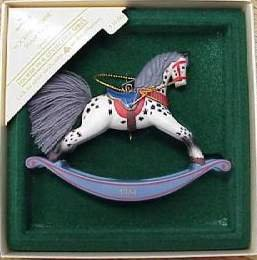 Hallmark Keepsake Christmas Ornament Rocking Horse 1984  Appaloosa #4 VGB ~*~