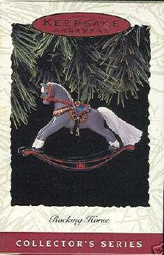 Hallmark Keepsake Christmas Ornament Rocking Horse 1993 Gray/Grey #13 GB ~*~