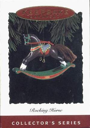 Hallmark Keepsake Christmas Ornament Rocking Horse 1994 Dark Brown #14 GB ~*~