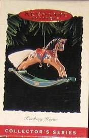 Hallmark Keepsake Christmas Ornament Rocking Horse 1995 Tan & Brown #15 PB ~*~