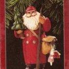 Hallmark Keepsake Christmas Ornament KOCC Membership 1998 Making His Way Folk Art Santa VGB ~*~v