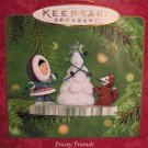 Hallmark Keepsake Christmas Ornament Frosty Friends 2001 Eskimo Husky Trimming Tree #22 FB ~*~