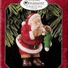 Hallmark Keepsake Christmas Ornament KOCC Membership 1998 New Christmas Friend Santa Puppy GB ~*~v