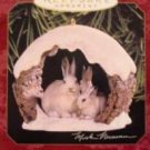 Hallmark Keepsake Christmas Ornament Snowshoe Rabbits in Winter 1997 Majestic Wilderness #1 GB ~*~