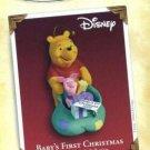 Hallmark Keepsake Christmas Ornament Disney Winnie the Pooh & Piglet 2005 Baby's First VGB ~*~v