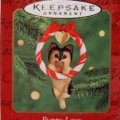 Hallmark Keepsake Christmas Ornament Puppy Love 2000 Yorkshire Terrier Pup Dog #10 VGB ~*~v