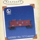 Hallmark Keepsake Christmas Ornament LIONEL No. 717 Caboose 2005 Train Car VGB ~*~v