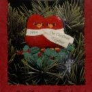 Hallmark Keepsake Ornament Our Christmas Together 1994 Red Birds Clip-On Love FB ~*~v