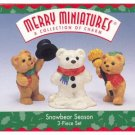 Hallmark Merry Miniatures Snowbear Season 1997 Bears & Snowman Figurines Ornament Premiere FB ~*~v