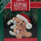 Hallmark Keepsake Christmas Ornament Child's Third 1990 Teddy Bear Years GB ~*~v