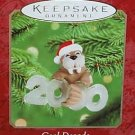 Hallmark Keepsake Christmas Ornament Cool Decade 2000 Walrus in Santa Hat #1 GB ~*~v