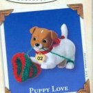 Hallmark Keepsake Christmas Ornament Puppy Love 2002 Jack Russell Dog #12 VGB ~*~