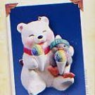 Hallmark Keepsake Christmas Ornament Snowball & Tuxedo 2005 Two Sweet #5 Bear Penguin GB ~*~