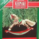 Hallmark Keepsake Christmas Ornament Rocking Horse 1990 Appaloosa #10 FB ~*~v