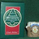 Hallmark Keepsake Christmas Ornament KOCC Membership Club Hollow 1990 Owl Tree Stump VGB ~*~v