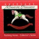 Hallmark MINIATURE Keepsake Christmas Ornament Rocking Horse 1988 #1 VGB ~*~