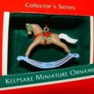 Hallmark MINIATURE Keepsake Christmas Ornament Rocking Horse 1989 #2 VGB ~*~