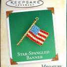 Hallmark MINIATURE Keepsake Christmas Ornament Star-Spangled Banner 2004 Jeweled Flag VGB ~*~