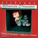 Hallmark MINIATURE Keepsake Christmas Ornament Kittens in Toyland Cat 1988 #1 VGB ~*~