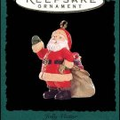 Hallmark MINIATURE Keepsake Christmas Ornament Jolly Visitor 1994 Santa VGB ~*~